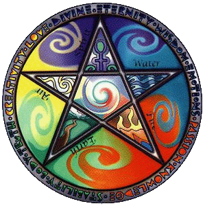 Five Wiccan Elements – Photo:    Wikimedia