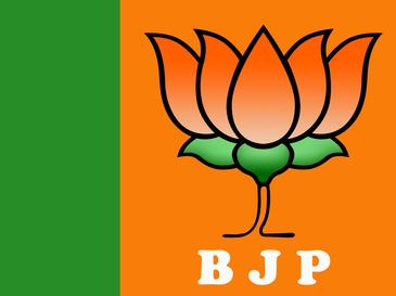 Flag of the Bharatiya Janata Party – Photo:    Wikipedia