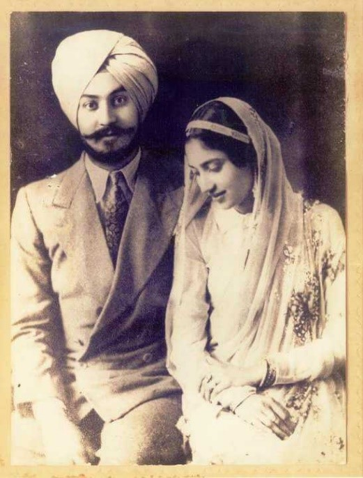 Tarunjit's grandparents    – Capt. Ajit Singh and Narinder Kaur – Photo: TSB