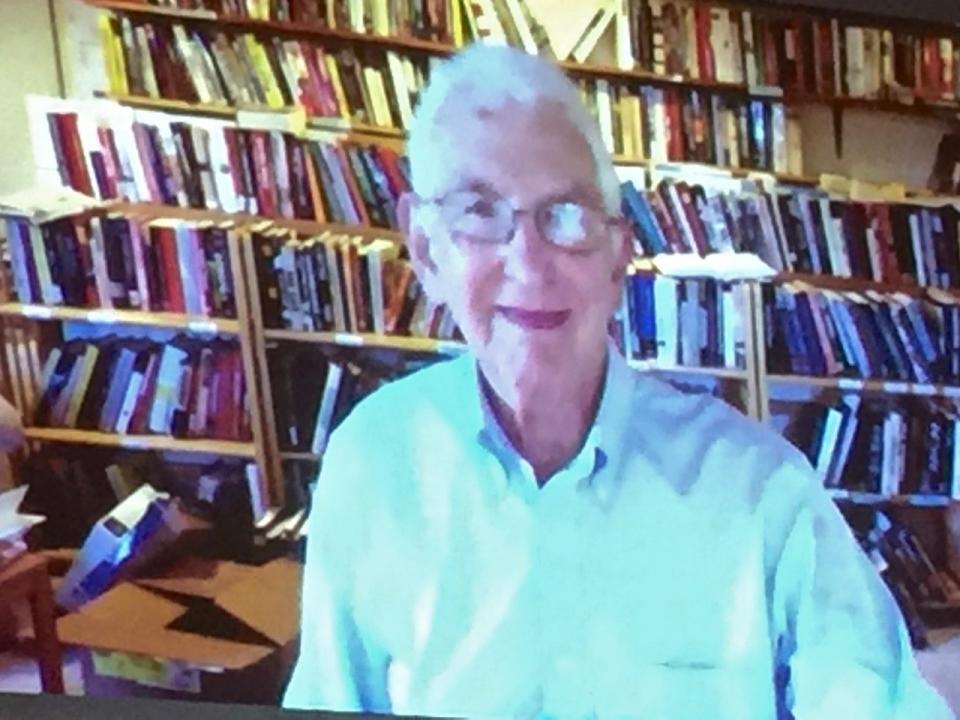 Daniel Ellsberg spoke at the conference via Skype – Photo: JR