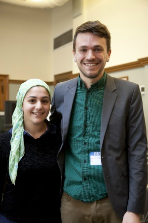 Shayreen Isoli, a Muslim student at Lincoln, a Quaker girl's school in Rhode Island, was so inspired by Chris as a gay atheist interfaith activist that she organized his visit to the school. – Photo: Chris Stedman