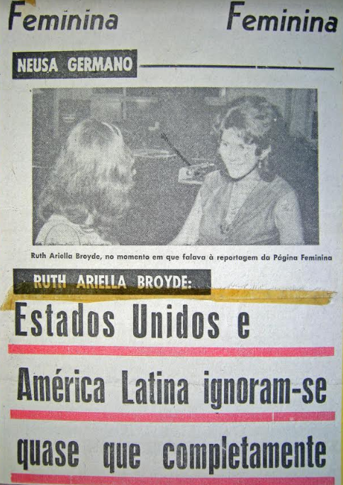 Newspaper clipping of my journey in Brazil