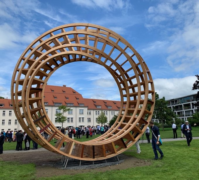 The Ring of Peace in Lindau – Photo:    Tweet    from Peacemakers Network