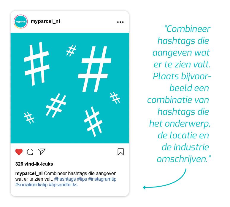 MyParcel Instagram hashtags