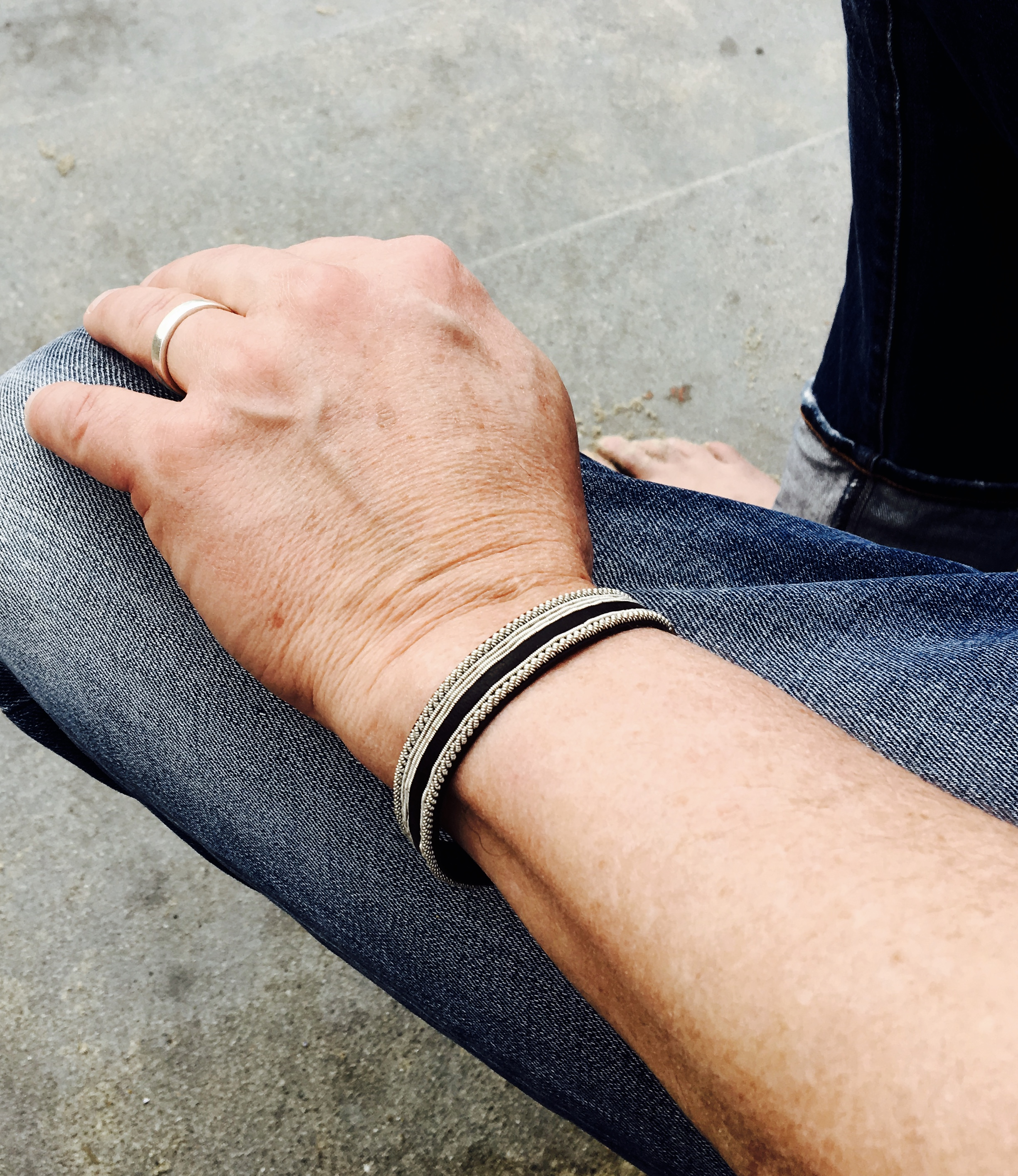 armband, läder, herr