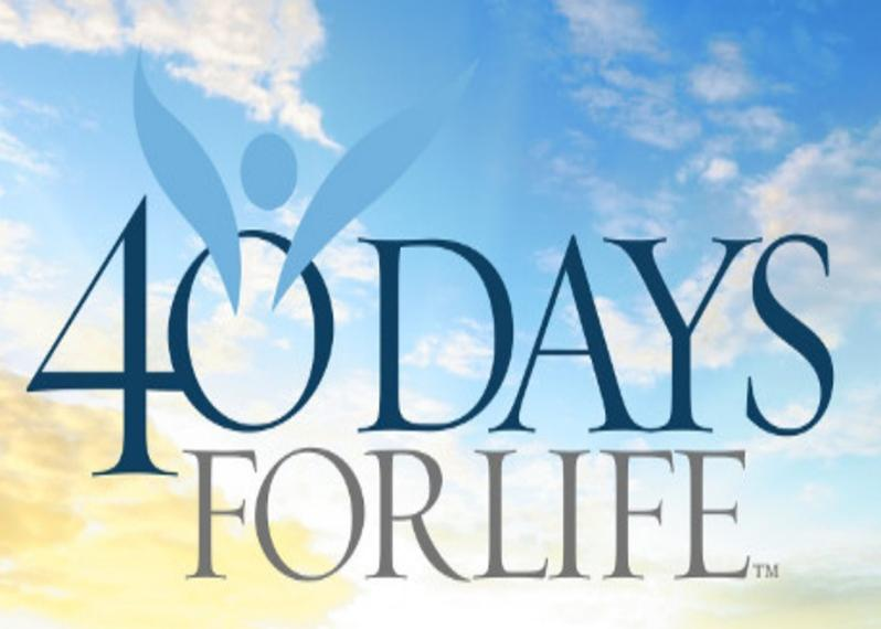 40 Days for Life    Looking for more information on Life Issues? Follow this link for resources and ways that we can support life.