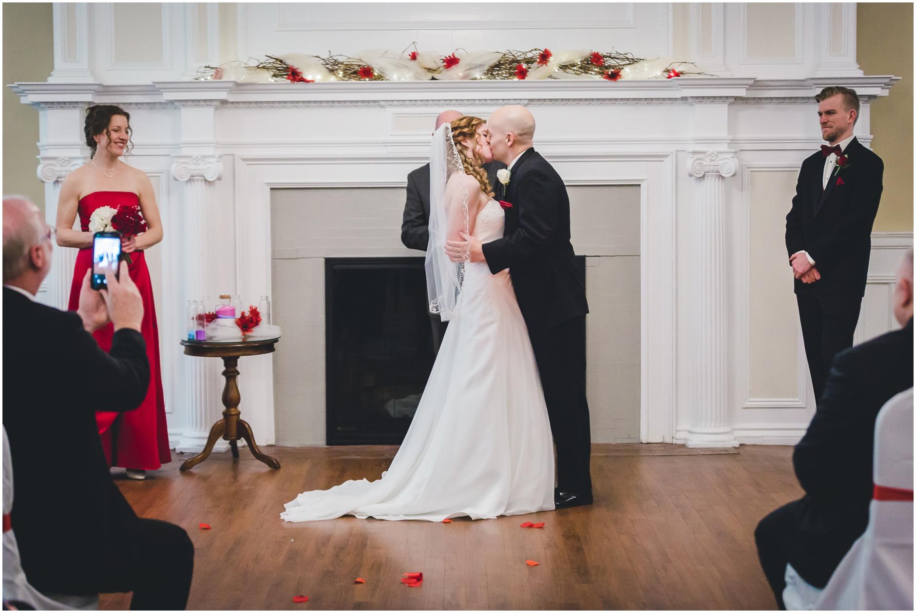 Buffalo Wedding First Kiss