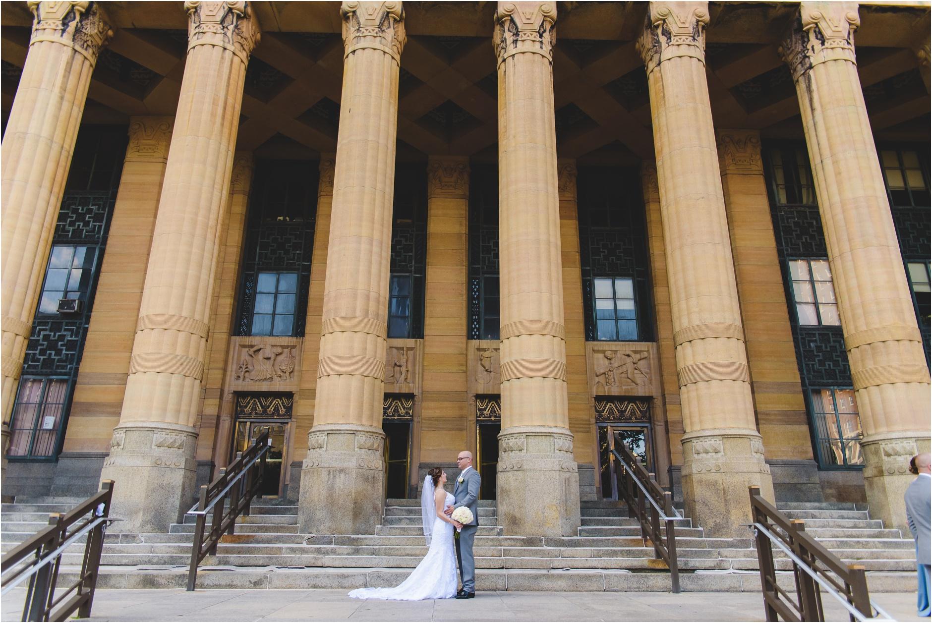 Buffalo City Hall Wedding Portraits