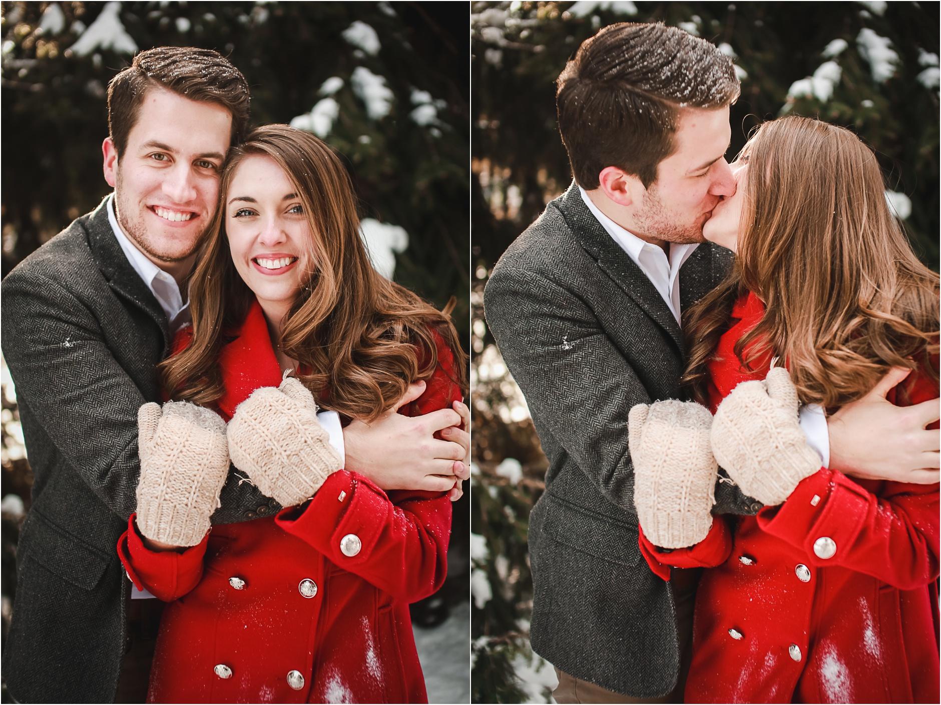 Buffalo Snow Winter Engagement Portraits