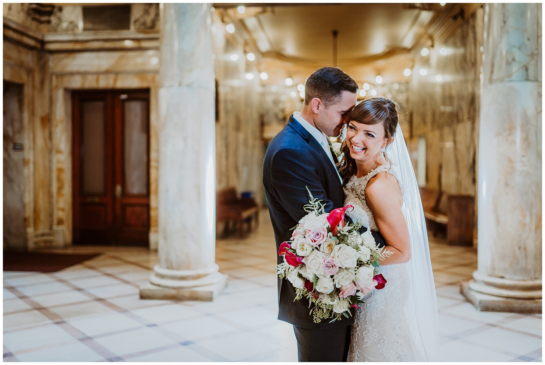 Indoor Wedding Portraits Rochester NY Photographer