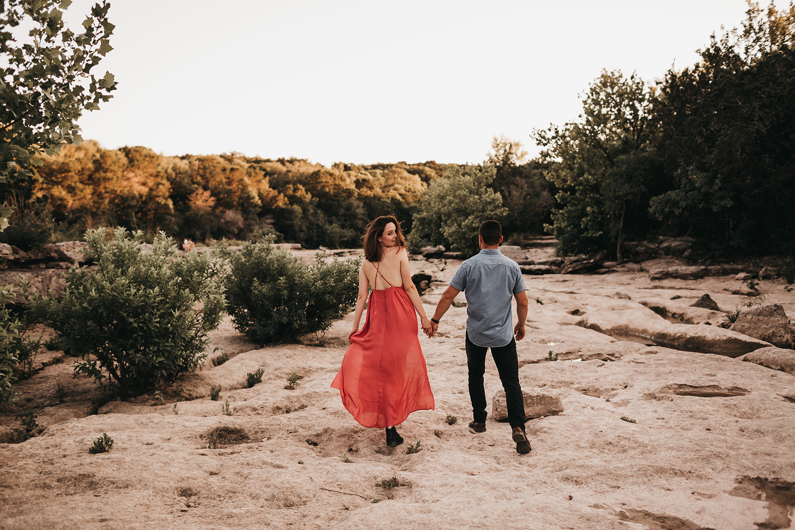 Outdoors Engagement session in Austin Texas at Spyglass Greenbelt trail.