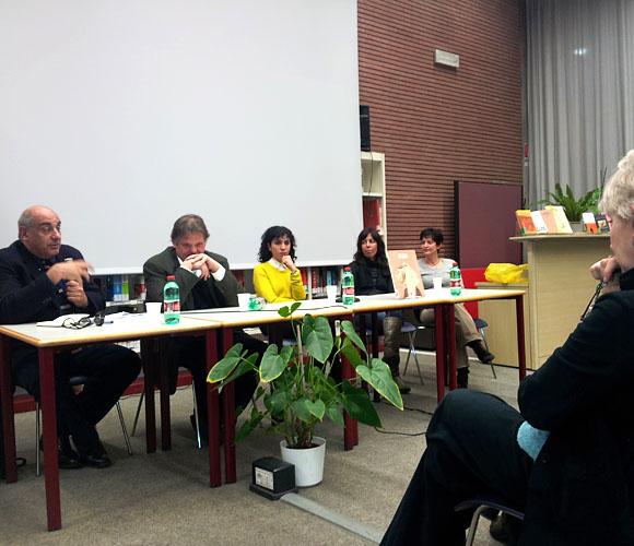 Discussion panel at Libreria Europea, Rome