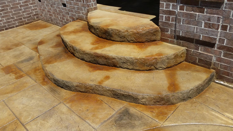 Ashlar slate, antique it, artesian stain, e stain