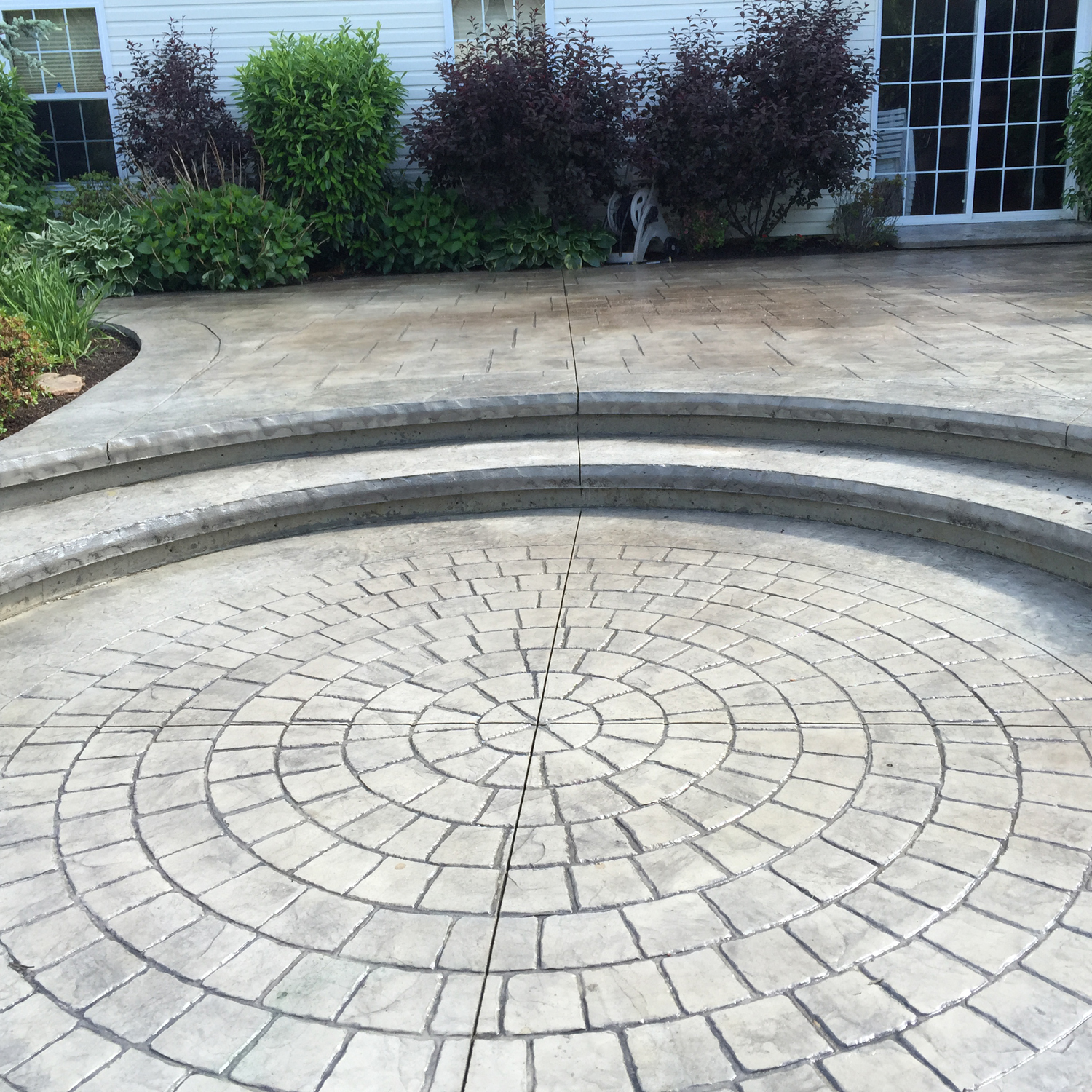 circle cobble stone/ adobe buff hardener /sandy buff release / brick form cure and seal