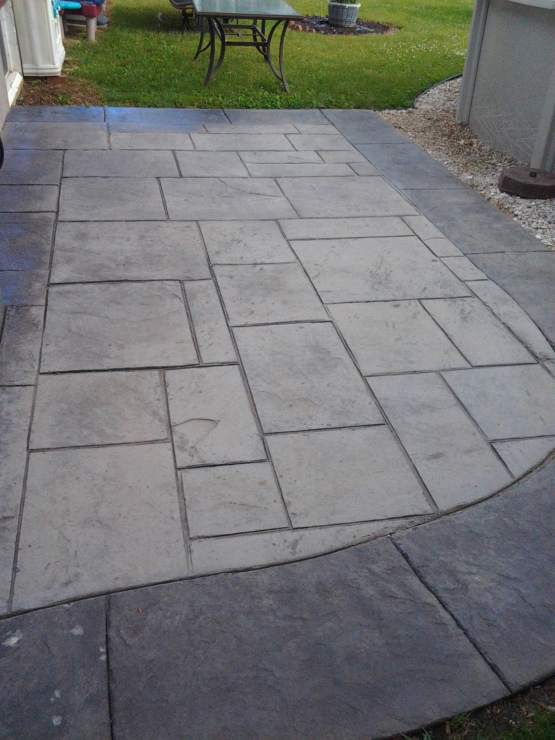 Solomon integral colors, release agents and sealers used.