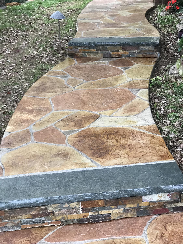 Arizona flag stone with acid stain