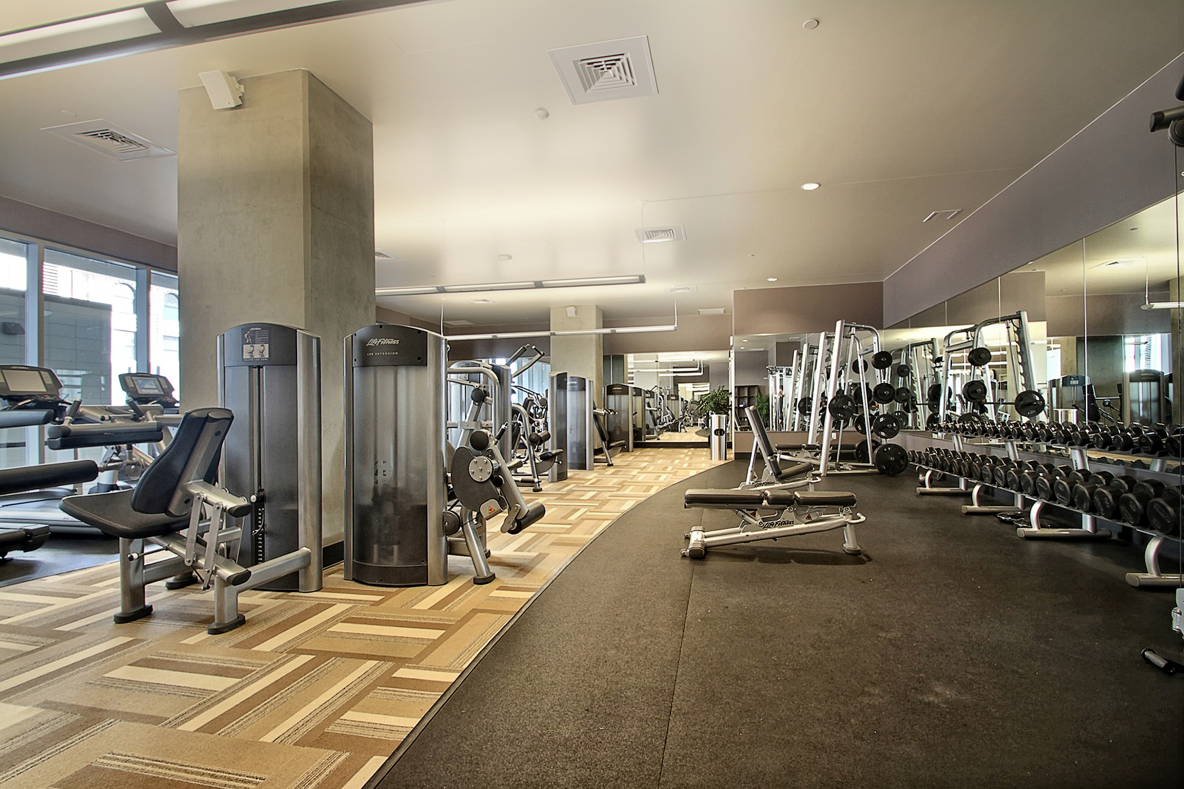 Stay fit in the fitness facility