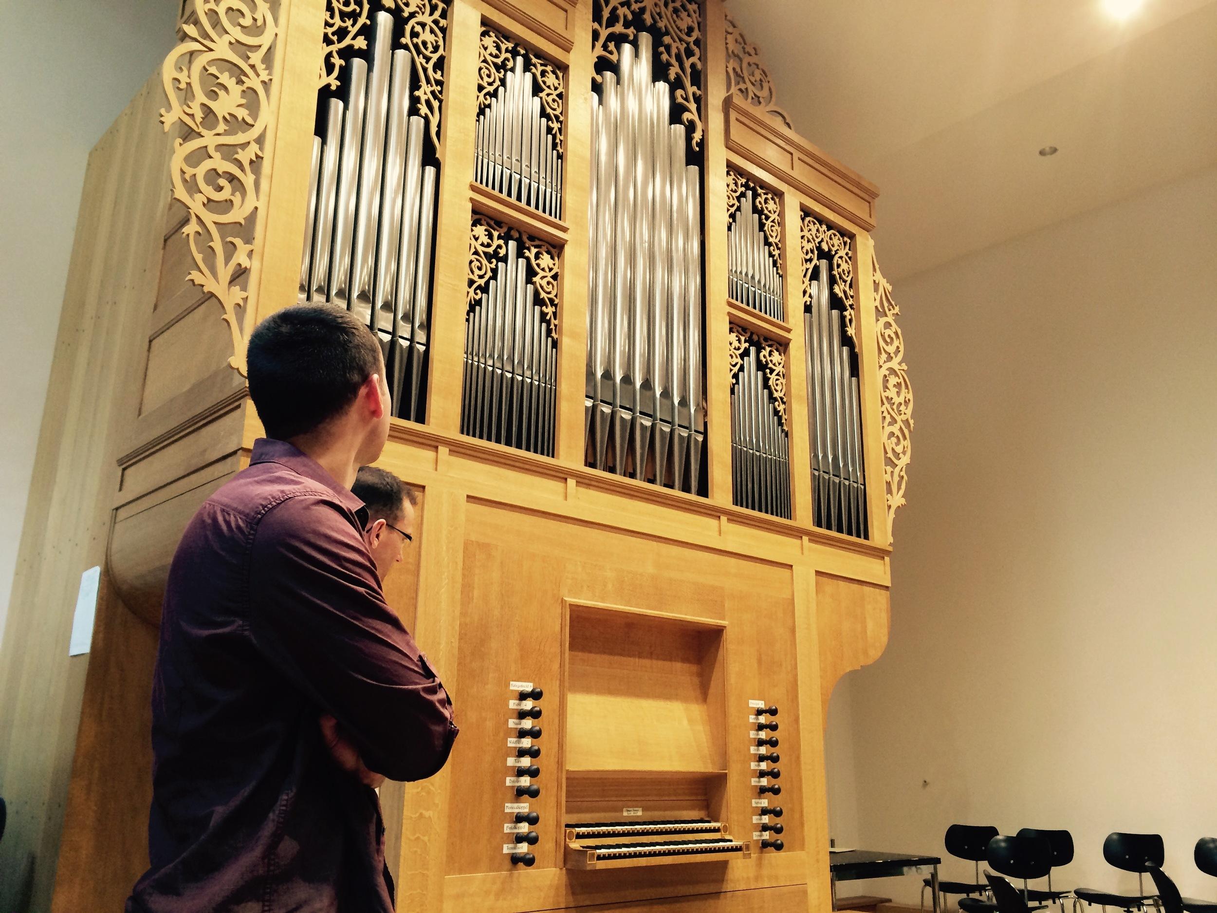 Kade admires the North German-style organ