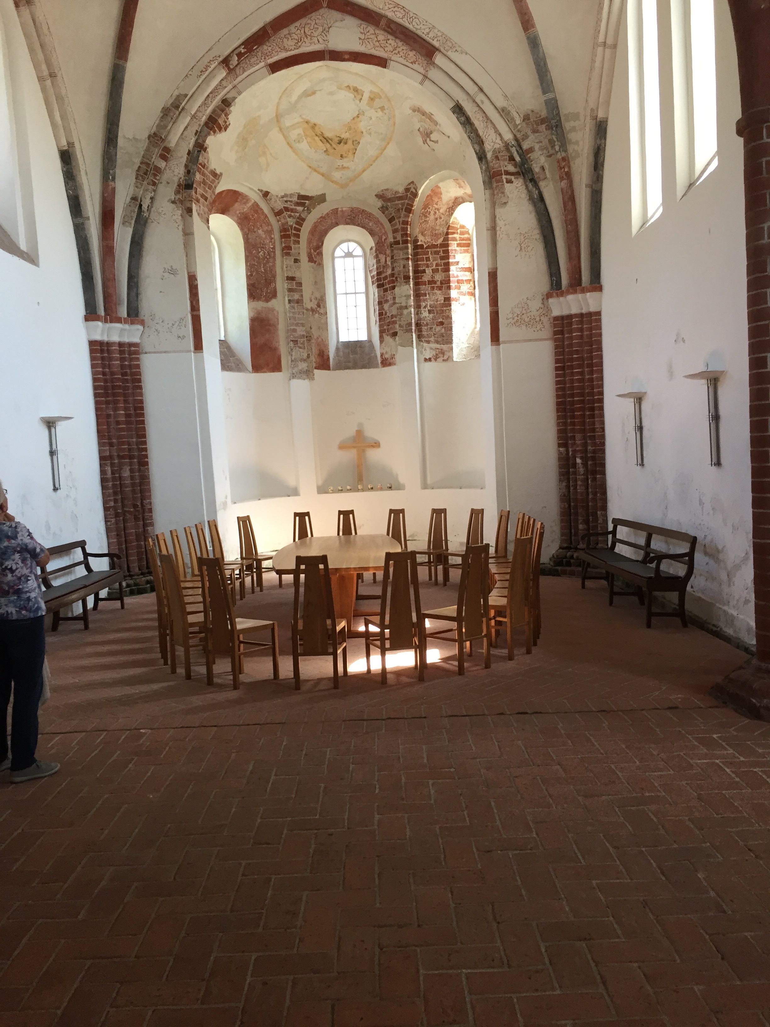 Today, the congregation in Pilsum is quite small, so services are held around this altar with congregants seated in a circle.