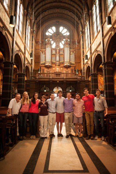 he Harvard Organ Society at Basilica of St. Nicolaas in Amsterdam with Michael Hedley!