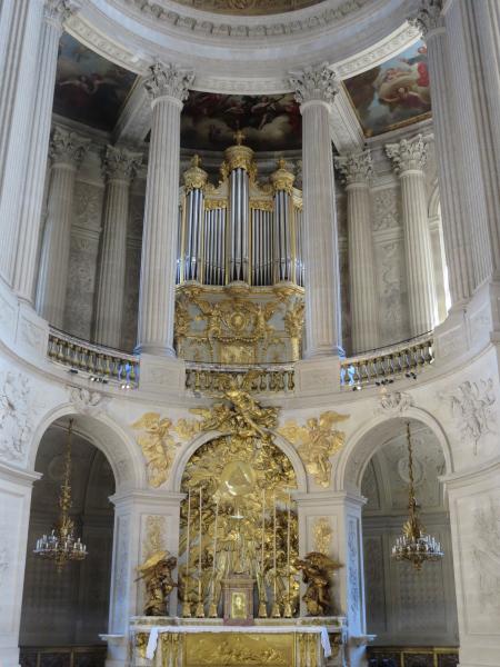 The organ in the Royal Chapel at Versailles