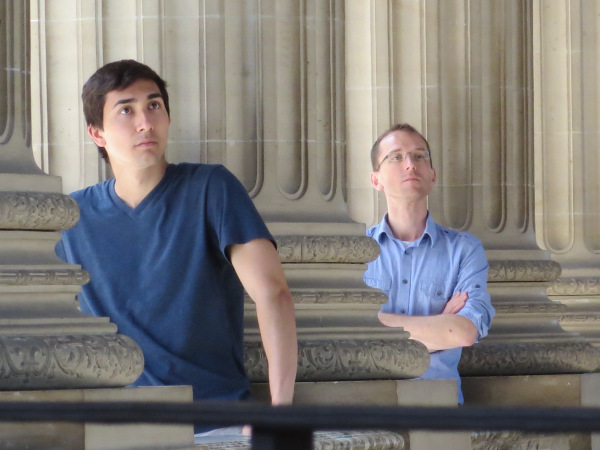 Joey and Chris listen in reverence…