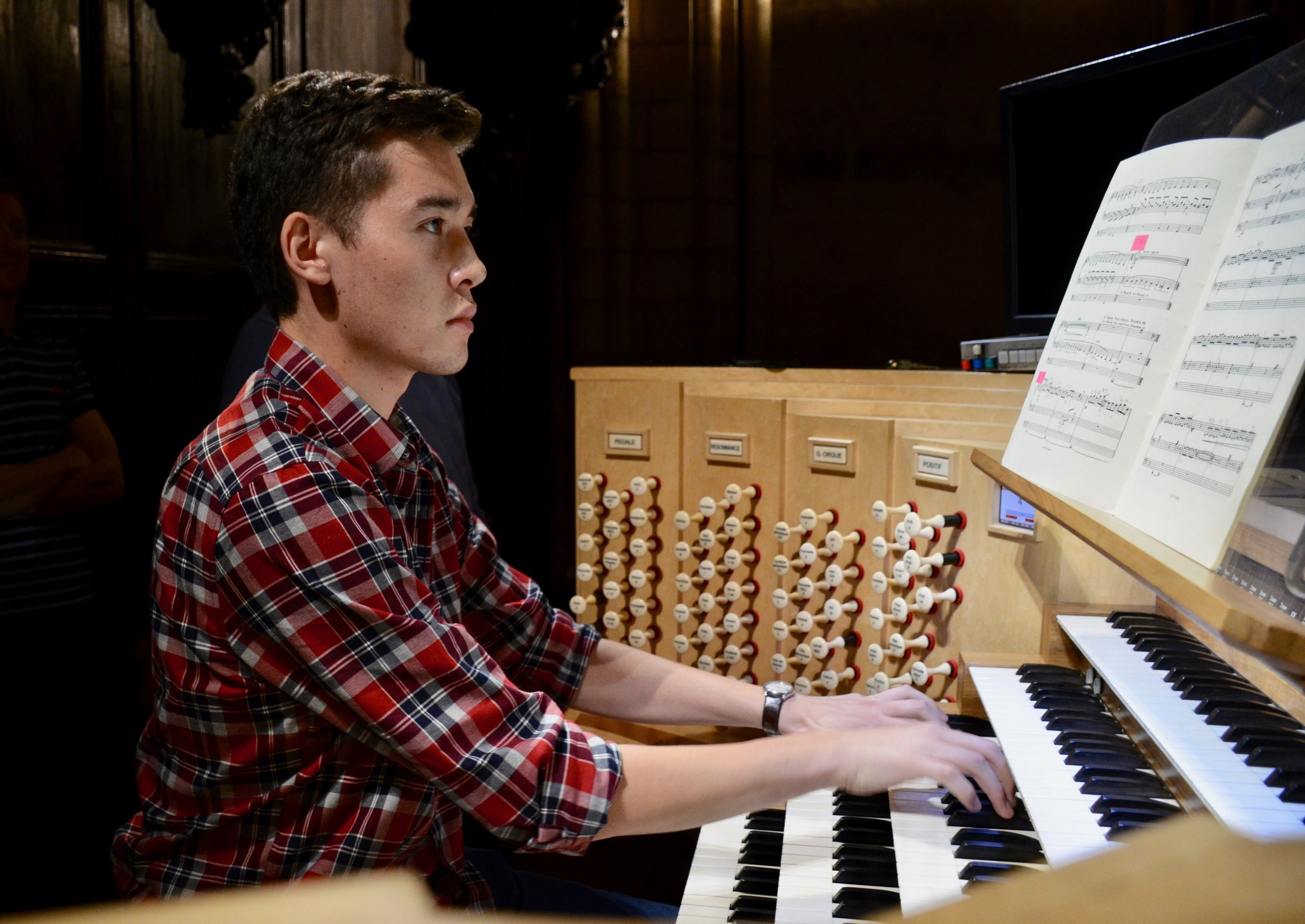 Noel playing Prelude and Fugue on ALAIN The Crew at Notre Dame de Paris - Boston Organ Studio