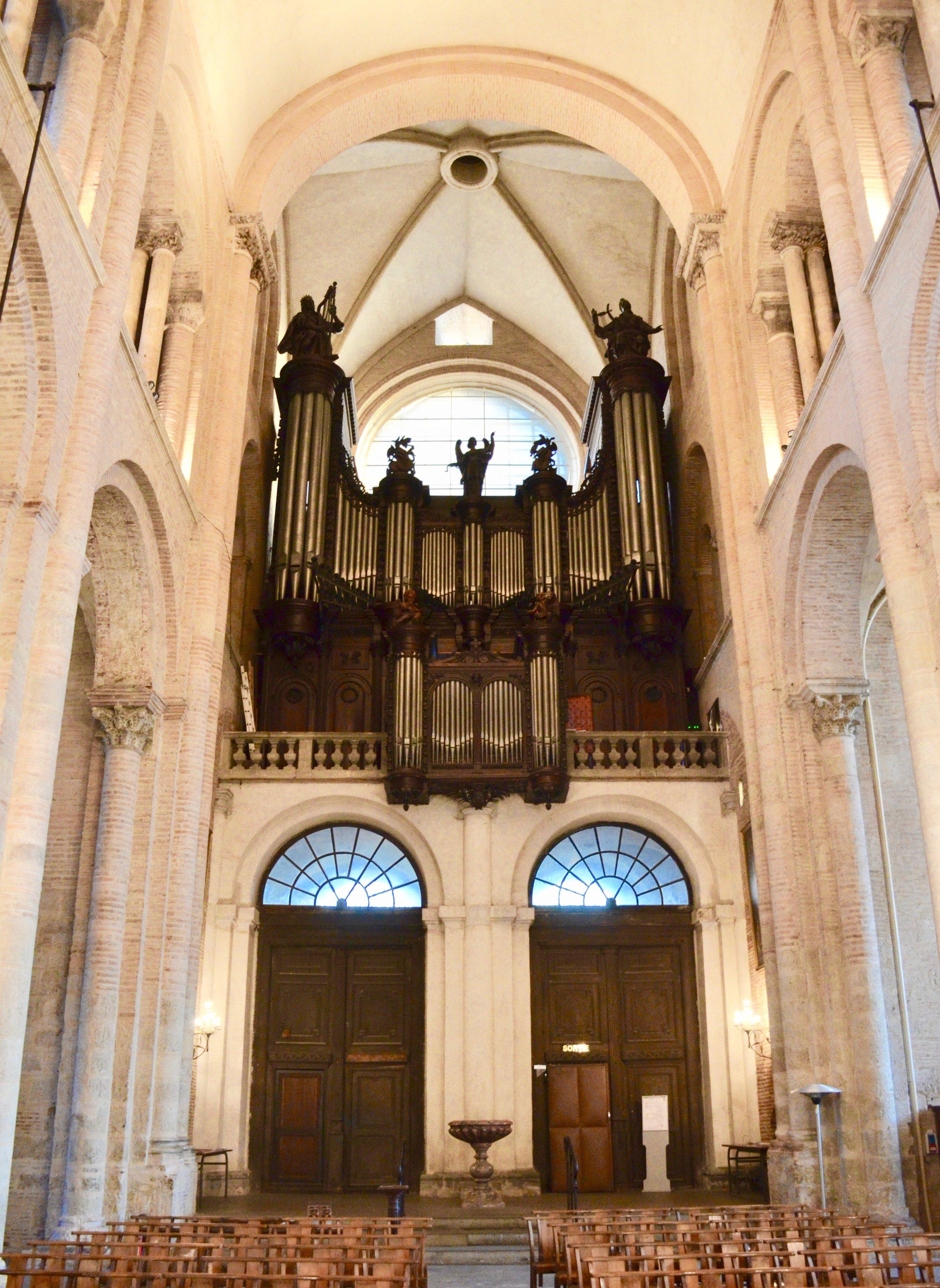 The Cavaillé-Coll organ in St-Sernin, Toulouse.