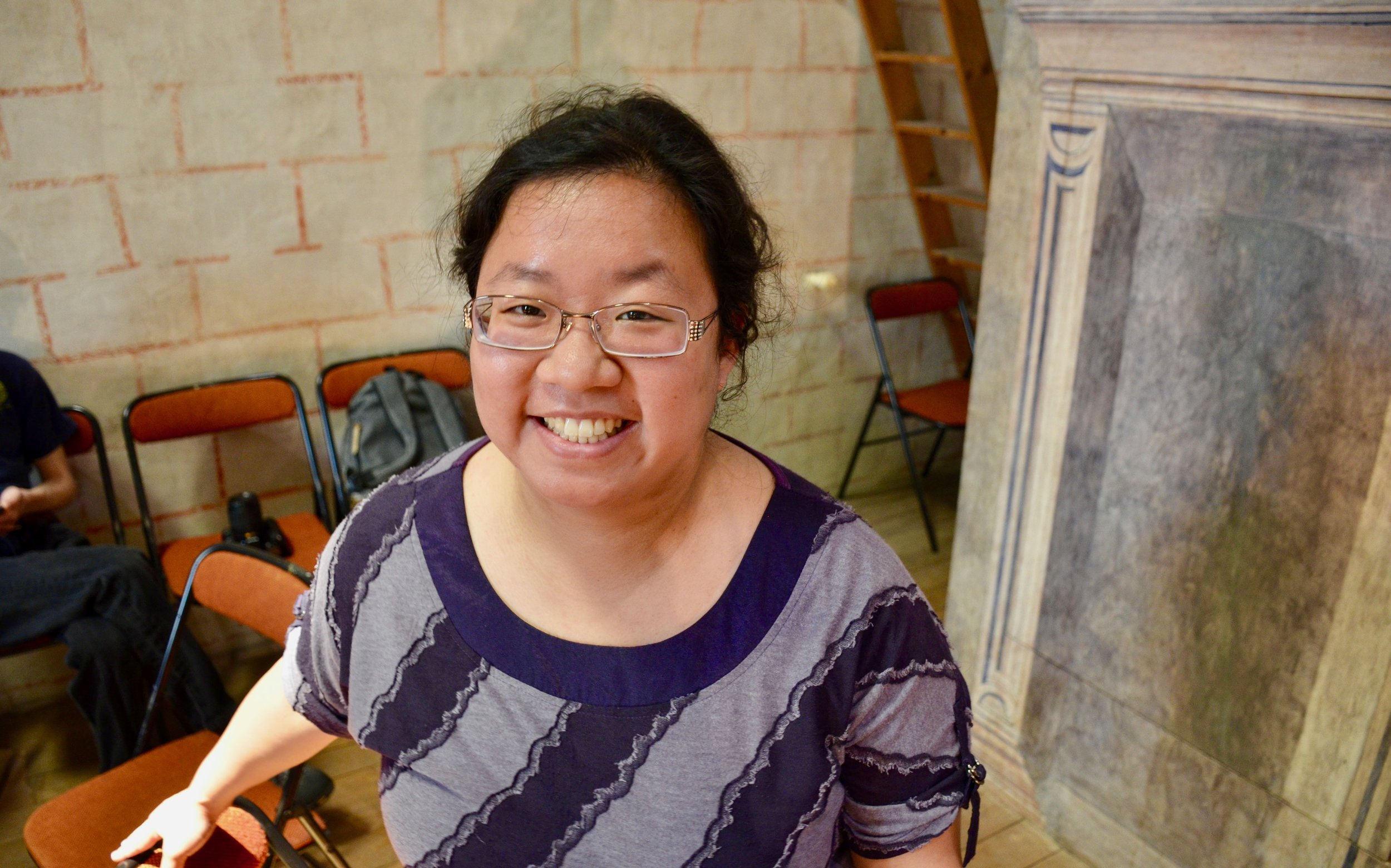 Jennifer Hsiao is all smiles at Musee des Augustins in Toulouse.