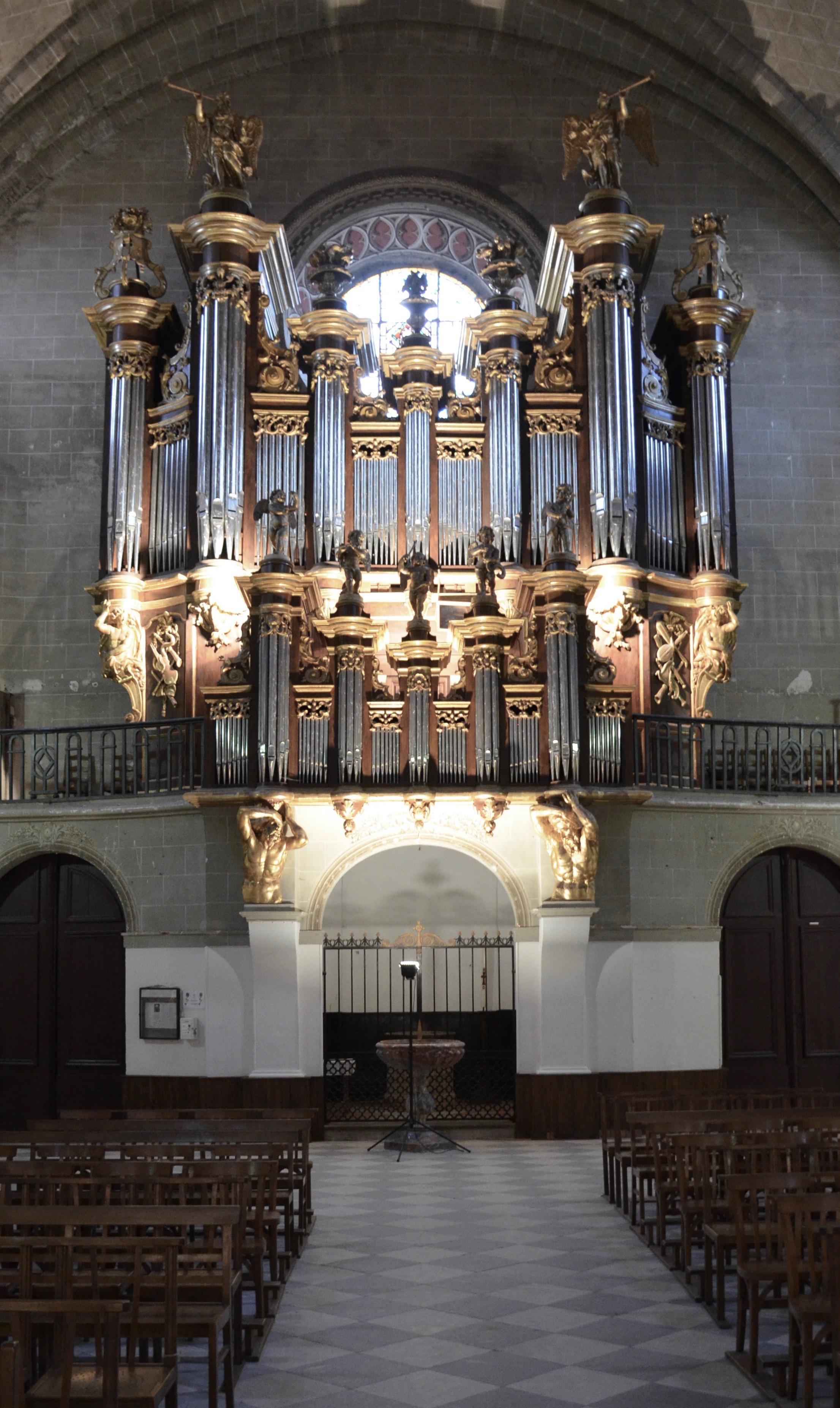 The historic organ of Cintegabelle, France. Boston Organ Studio.