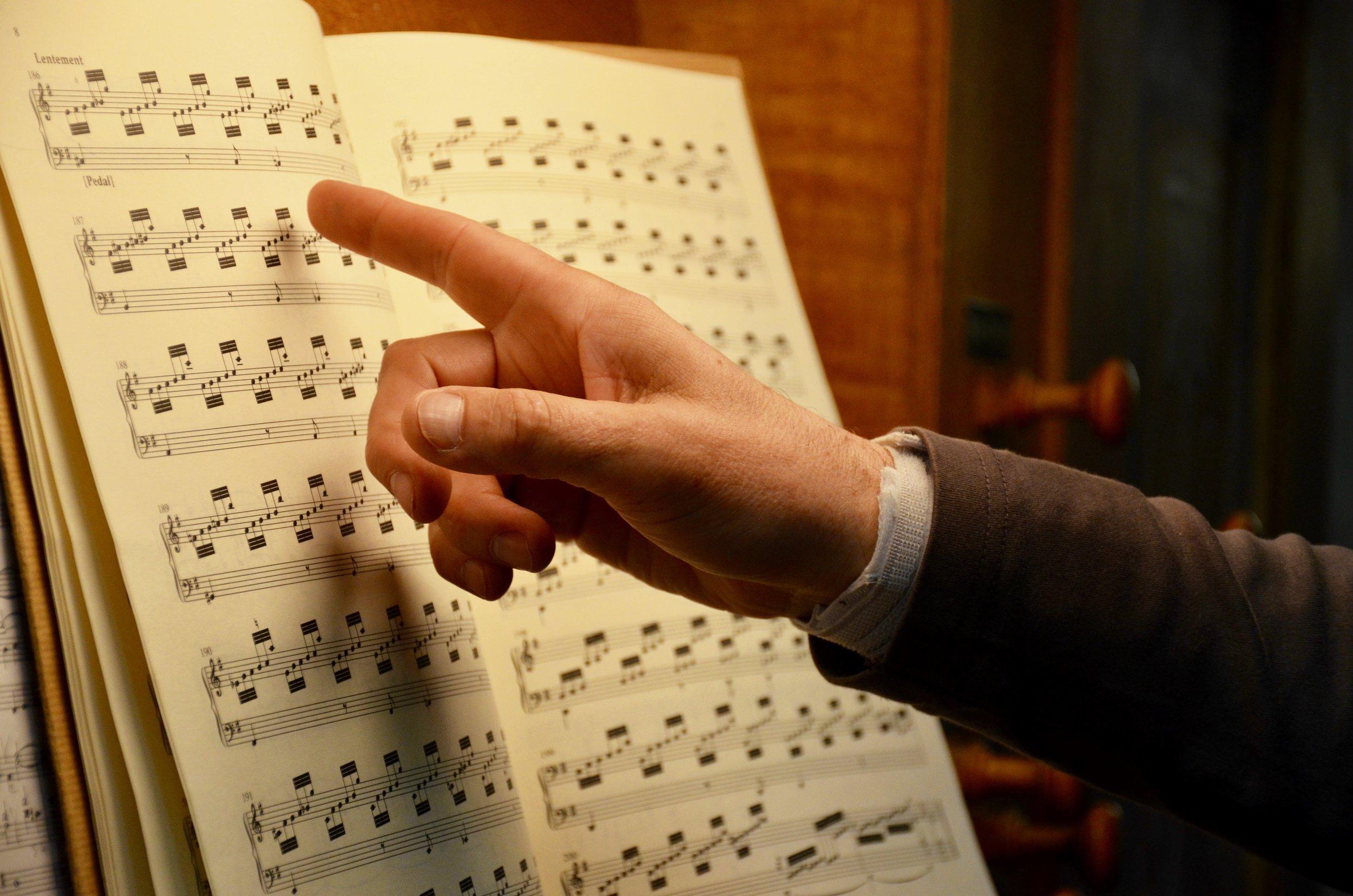 Jan Willem Jansen coaching Piece d'Orgue of Bach with Noel de Sa e Silva.