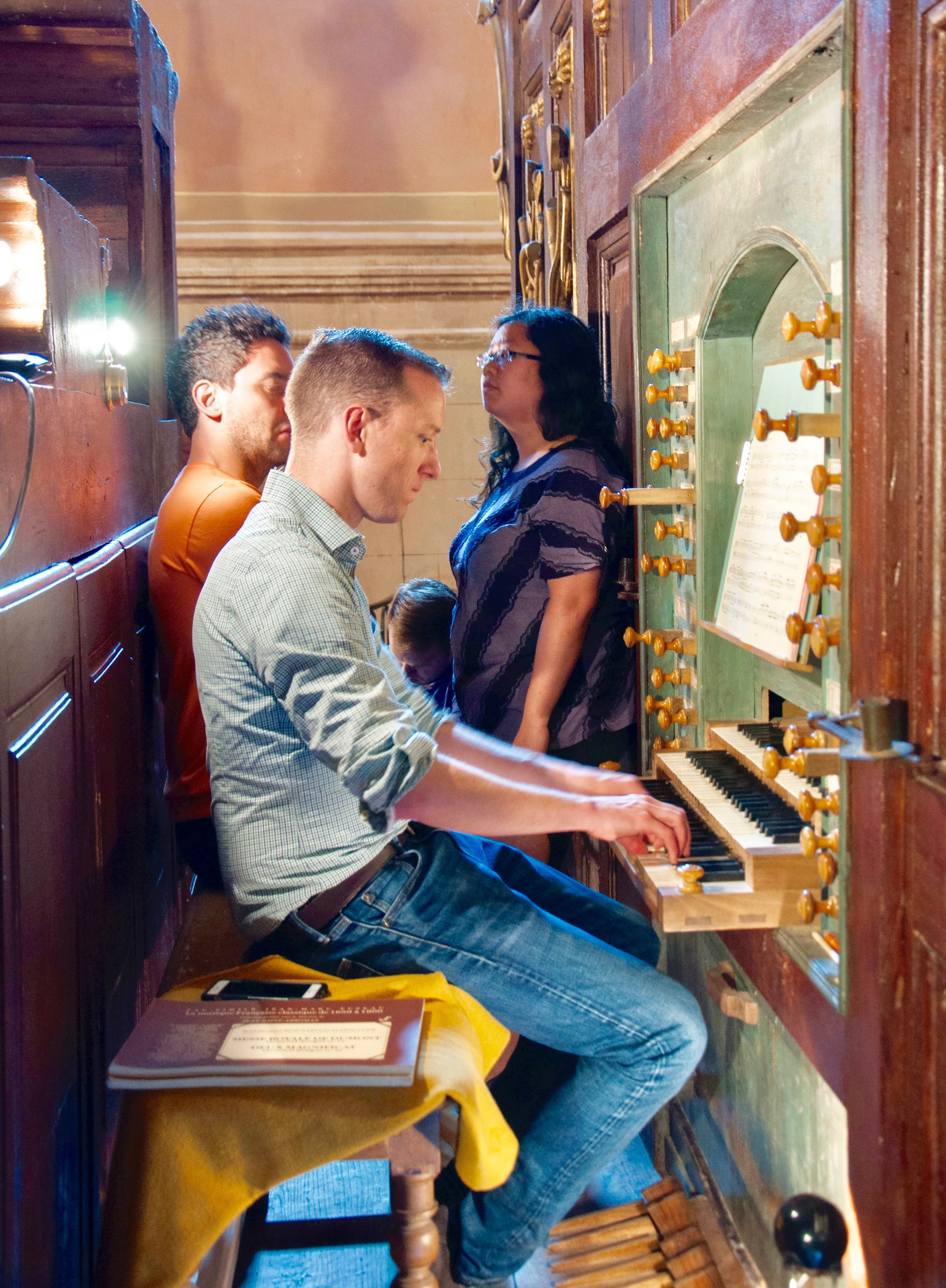 Christian Lane plays the organ built by Gregoire Rabiny