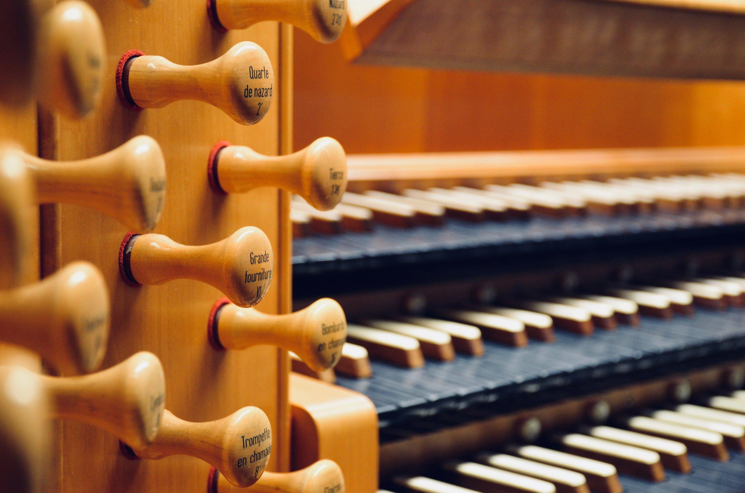 Console detail, Beckerath organ, St. Joseph Oratory, Montreal