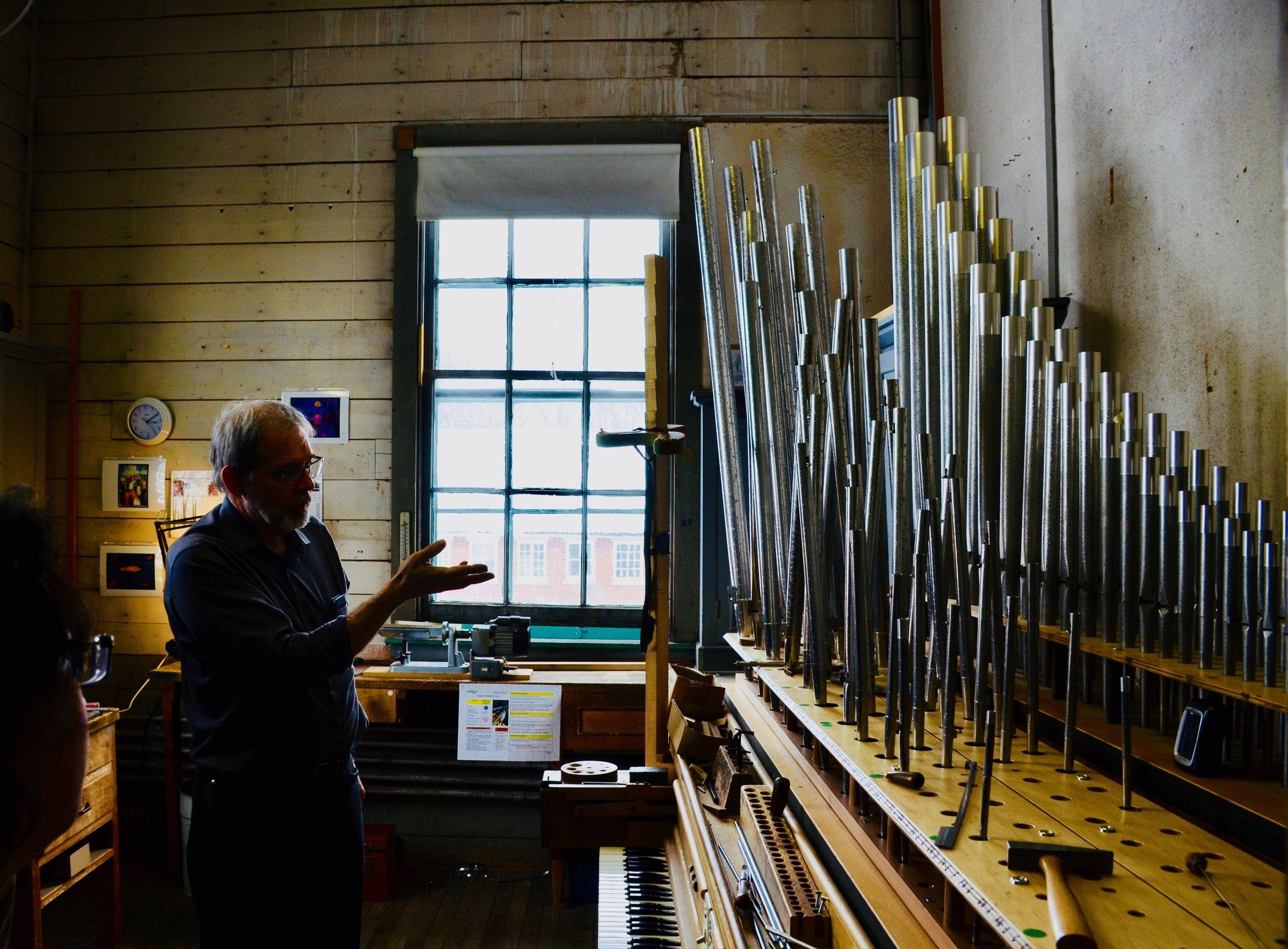 Boston Organ Studio tour of the Casavant Pipe Organ Shop, St-Hyacinthe, Quebec