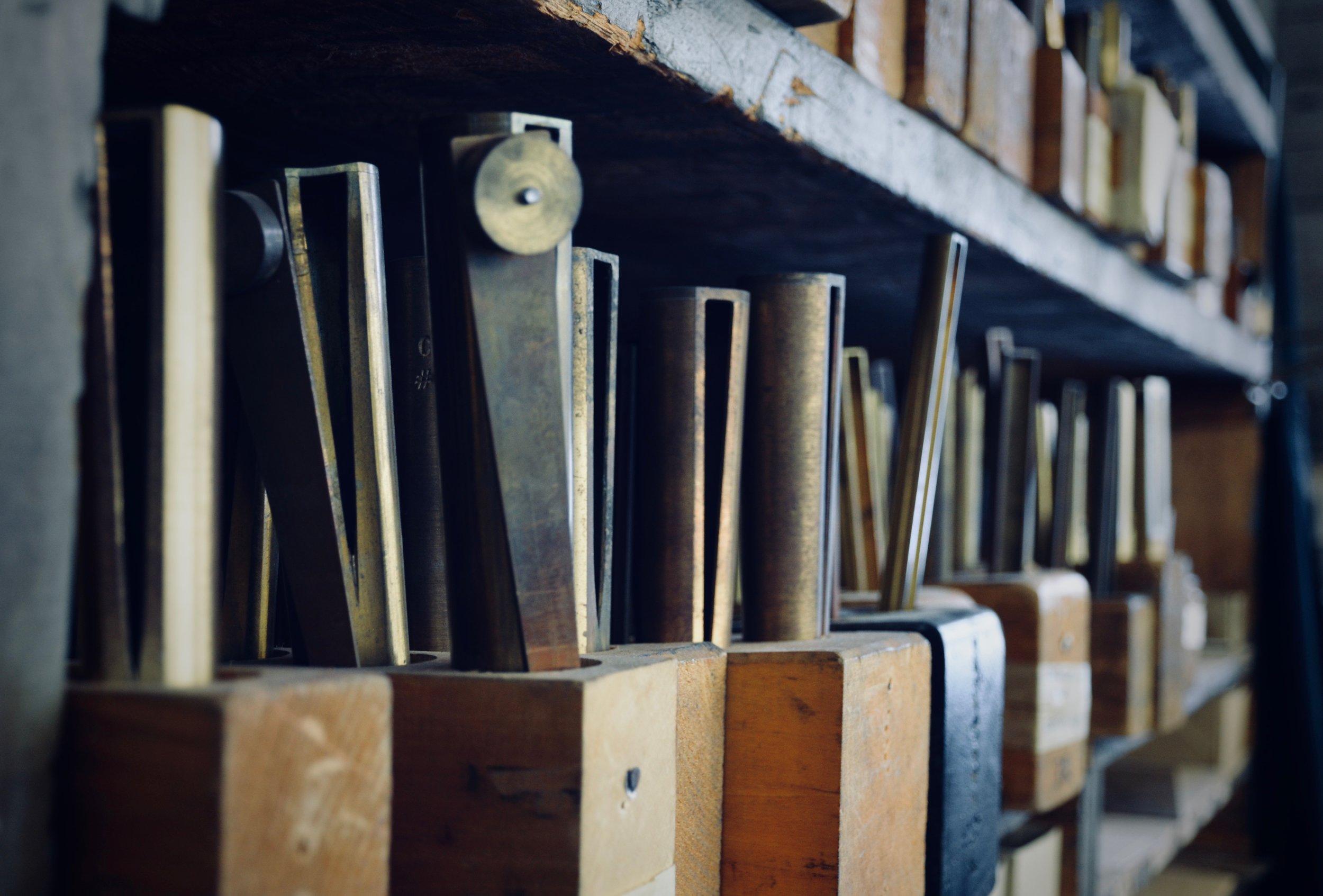 Reed Shallots.Boston Organ Studio tour of the Casavant Pipe Organ Shop, St-Hyacinthe, Quebec