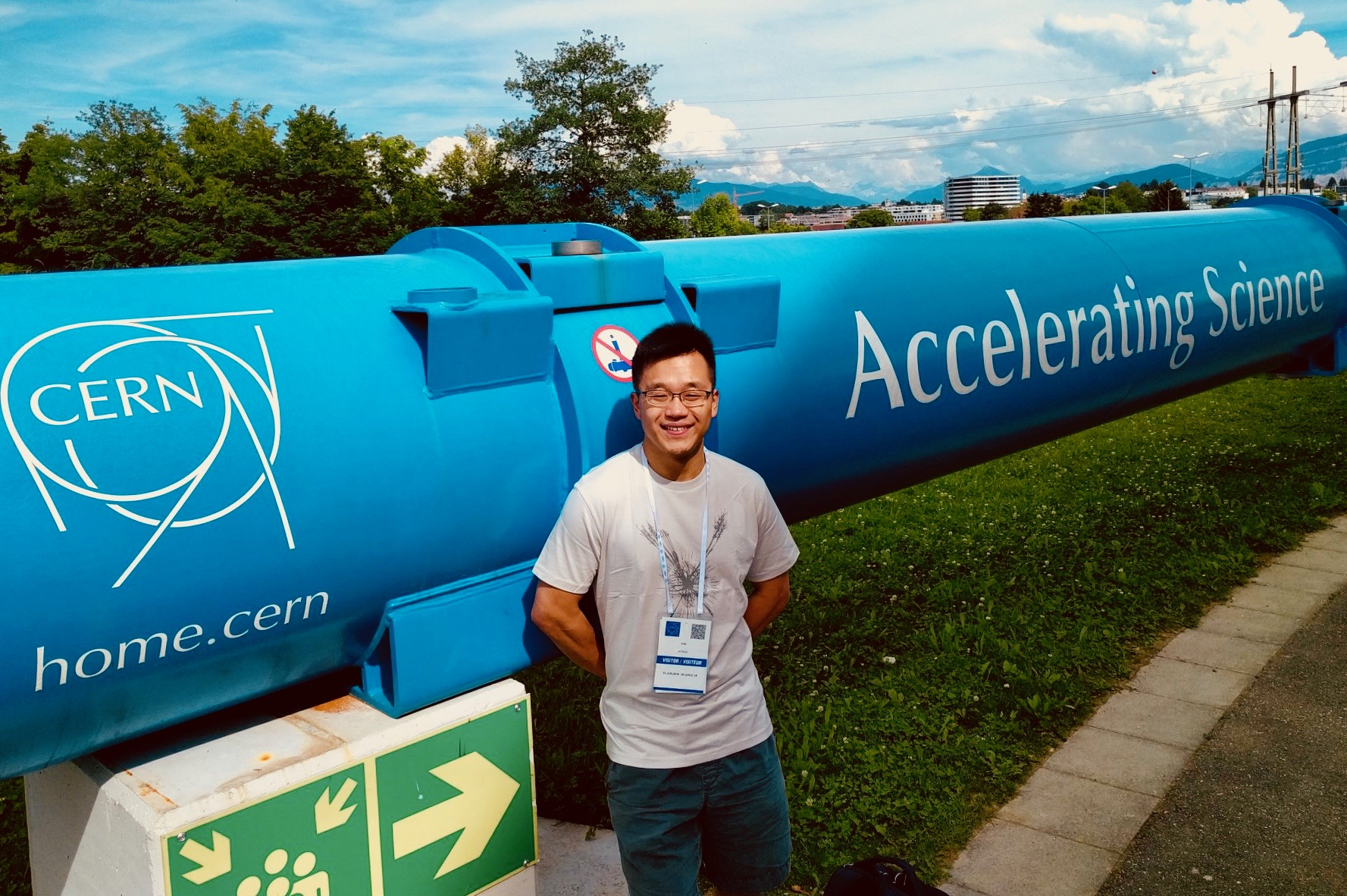 Boston Organ Studio member Adrian Cho, enroute to Amsterdam via a visit to the CERN Particle Accelerator in Switzerland.