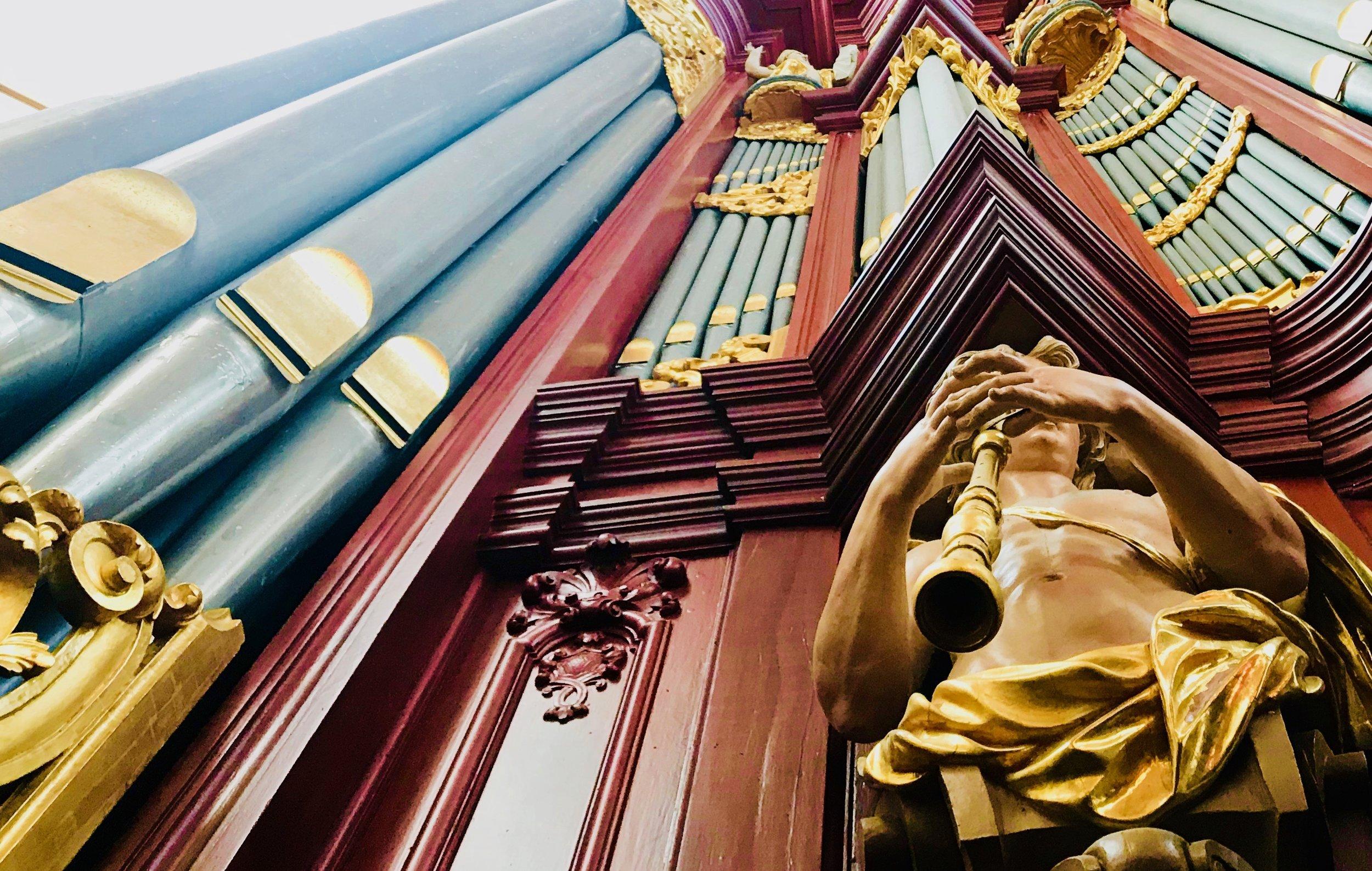 Muller pipe organ, St-Bavo, Haarlem.