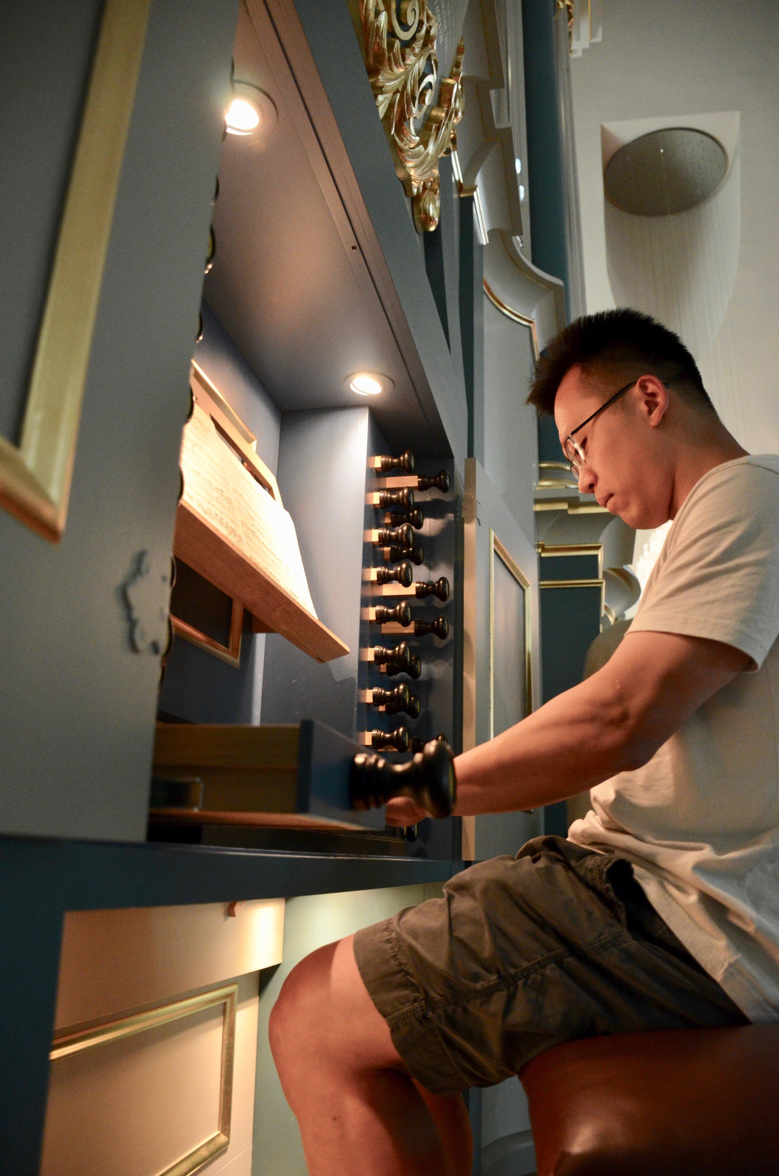 Adrian Cho plays the new Baroque organ in Orgelpark. Boston Organ Studio.