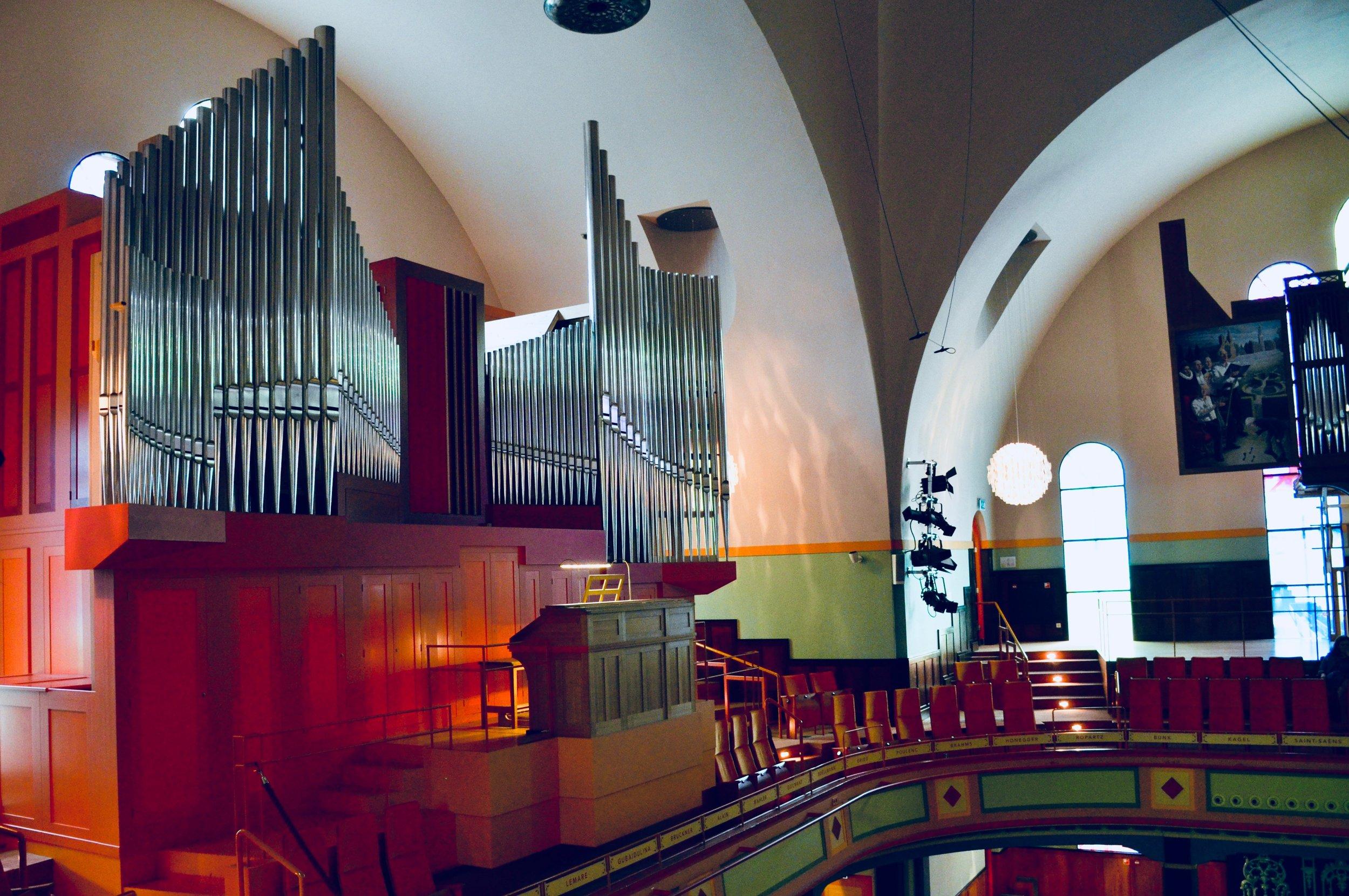 The Verschueren French-romantic organ in Orgelpark, Amsterdam.