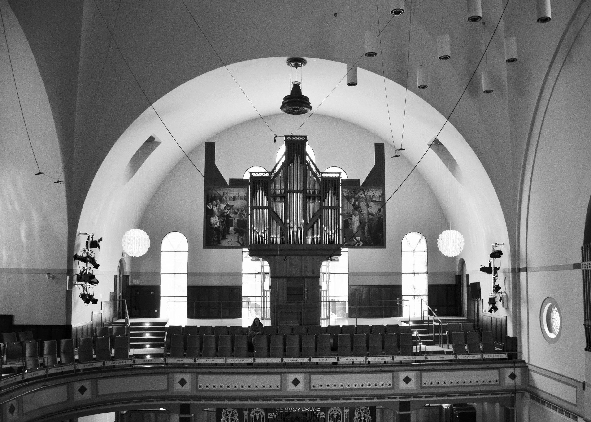 The Van Staten blockwerk organ in Orgelpark, Amsterdam.