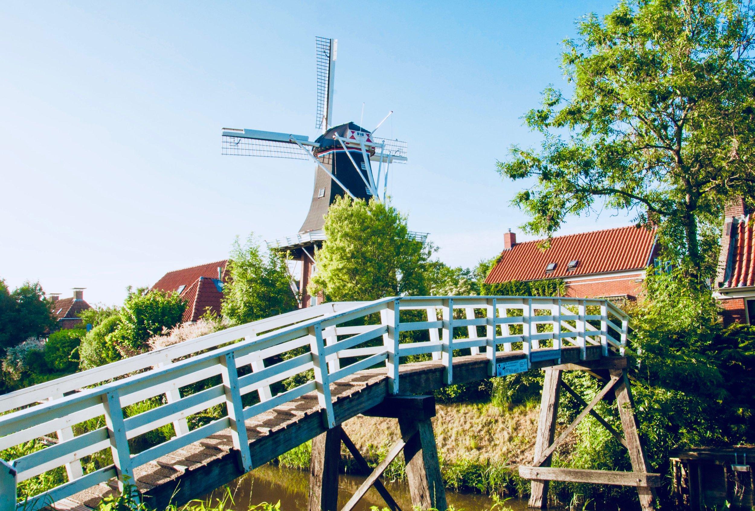The windmill in Mensingeweer, Holland.