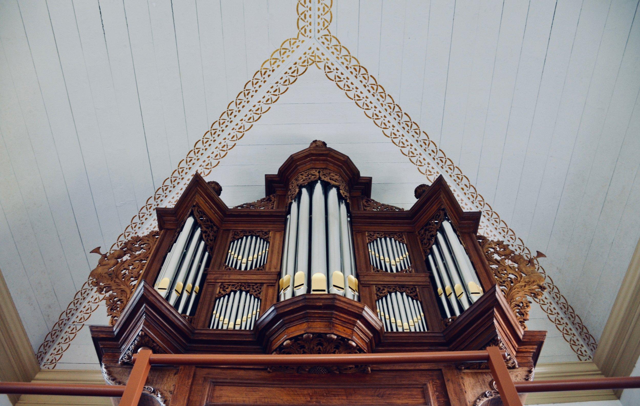 Schnitger organ, Michaëlkerk, Mensingeweer, Holland.
