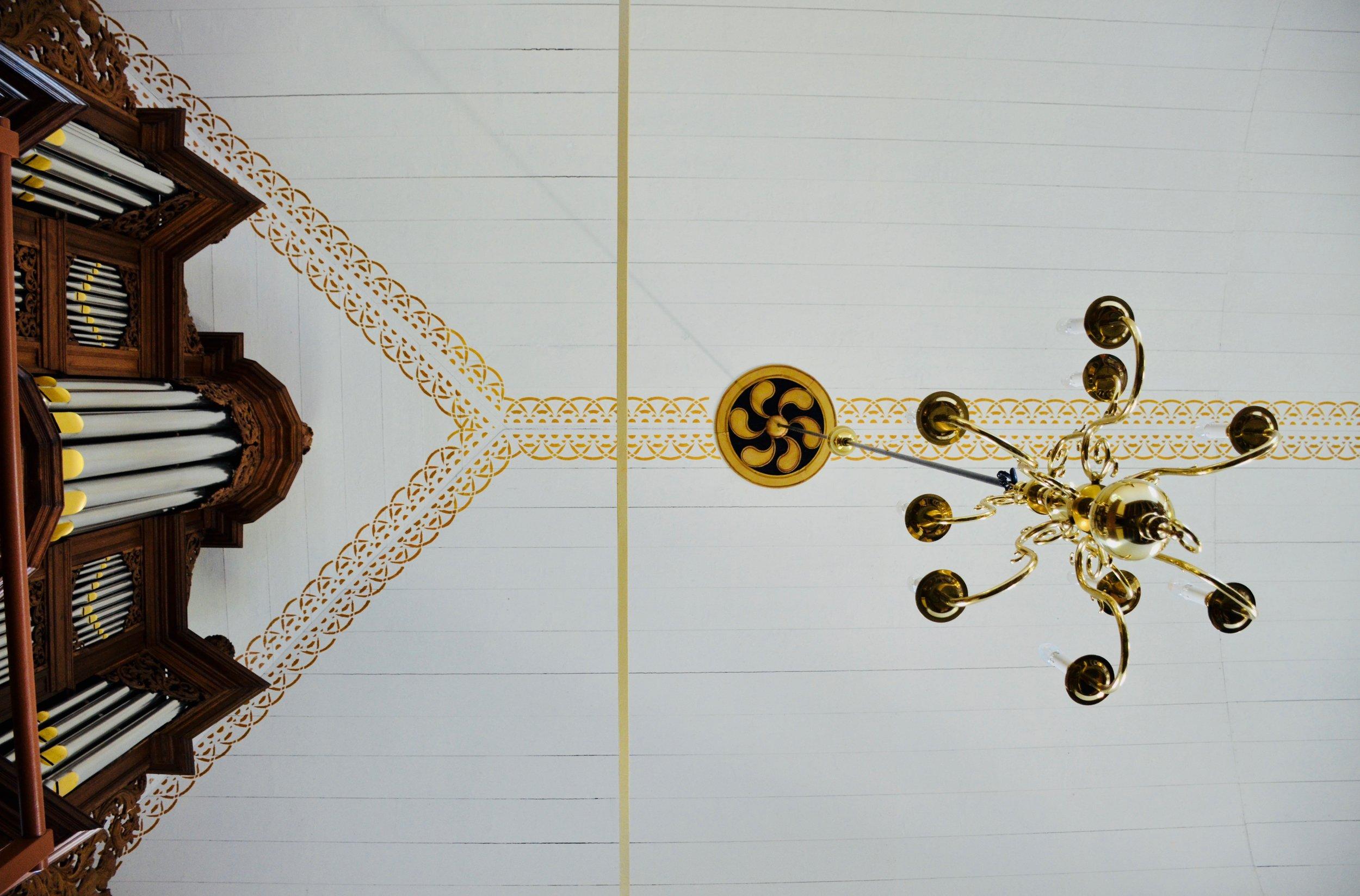 Ceiling detail, Michaëlkerk, Mensingeweer, Holland.
