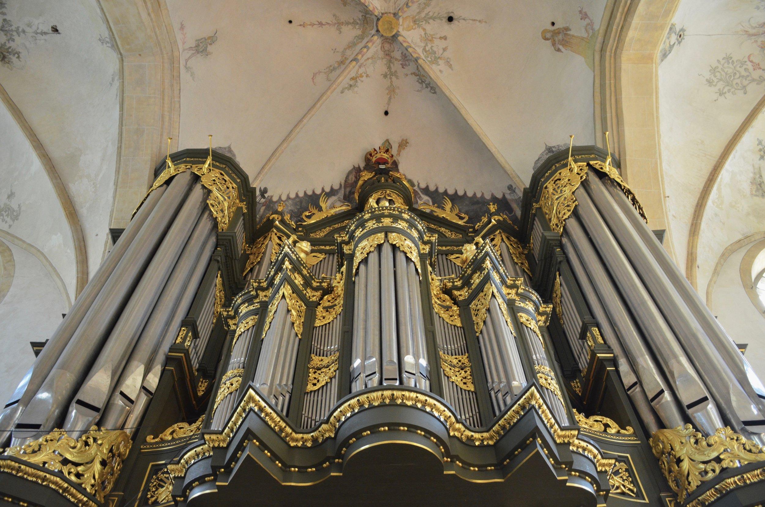 Façade, 1692 Arp Schnitger pipe organ, Martinikerk, Groningen.
