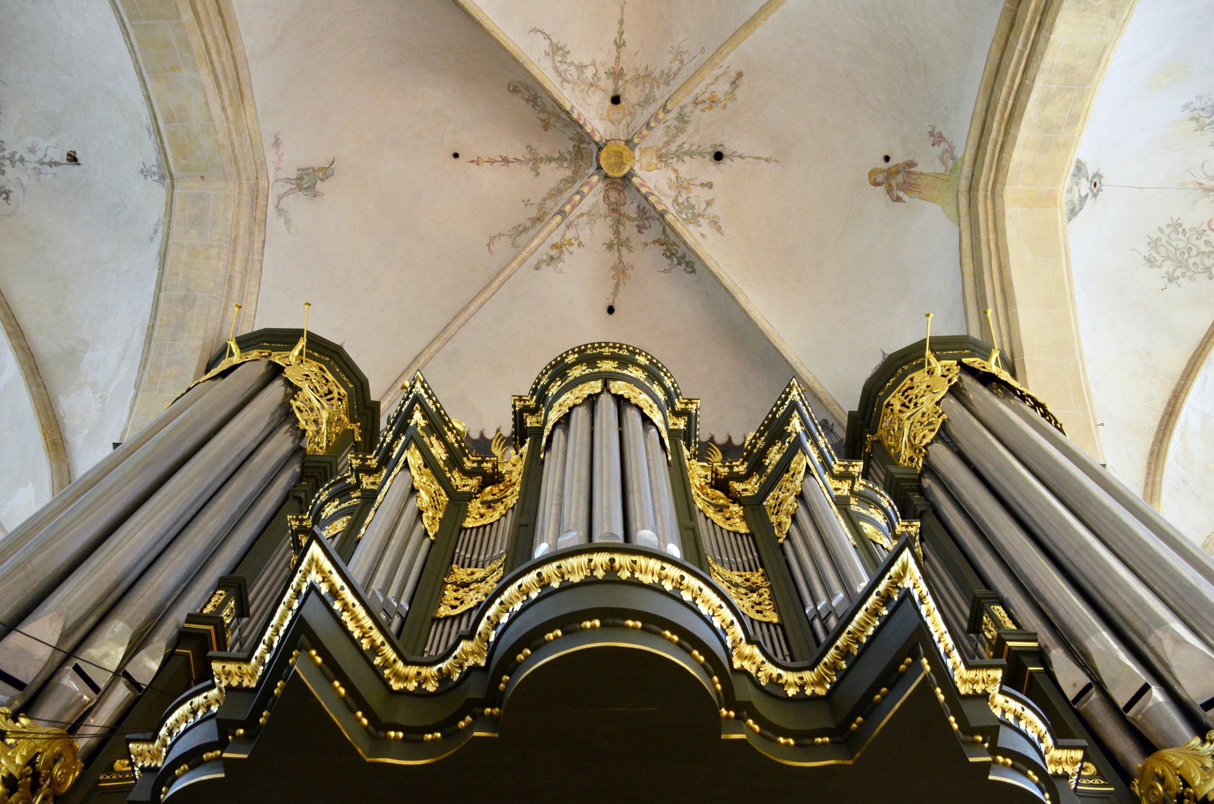 Façade detail, 1692 Arp Schnitger pipe organ, Martinikerk, Groningen.