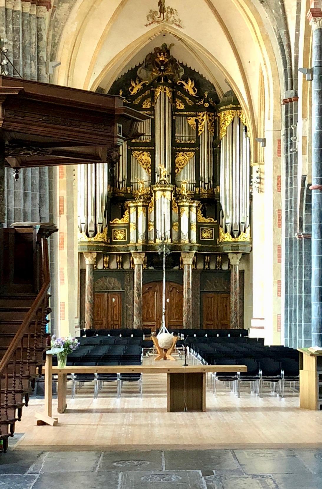 1692 Arp Schnitter organ as viewed from the Quire, Martinikerk, Groningen.