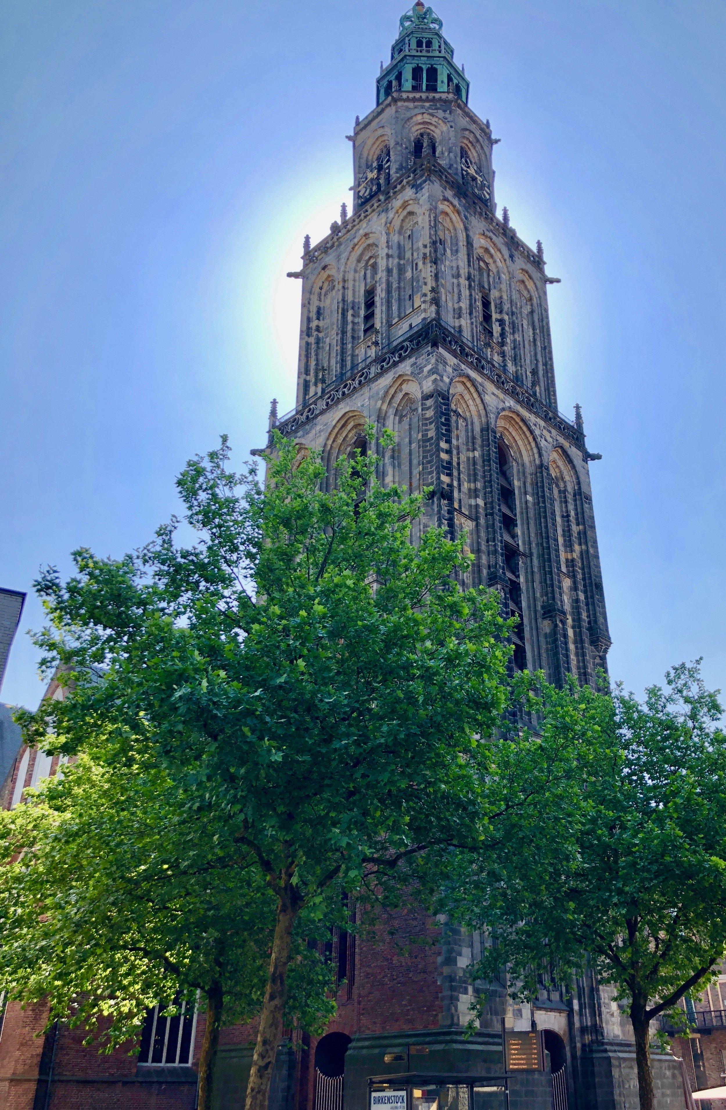 The tower of Martinikerk, Groningen.