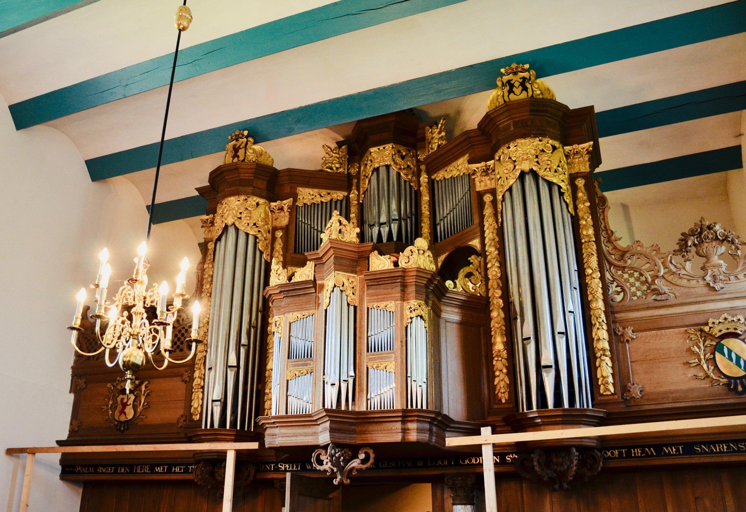 1667 Huis organ in Kantens, Holland.