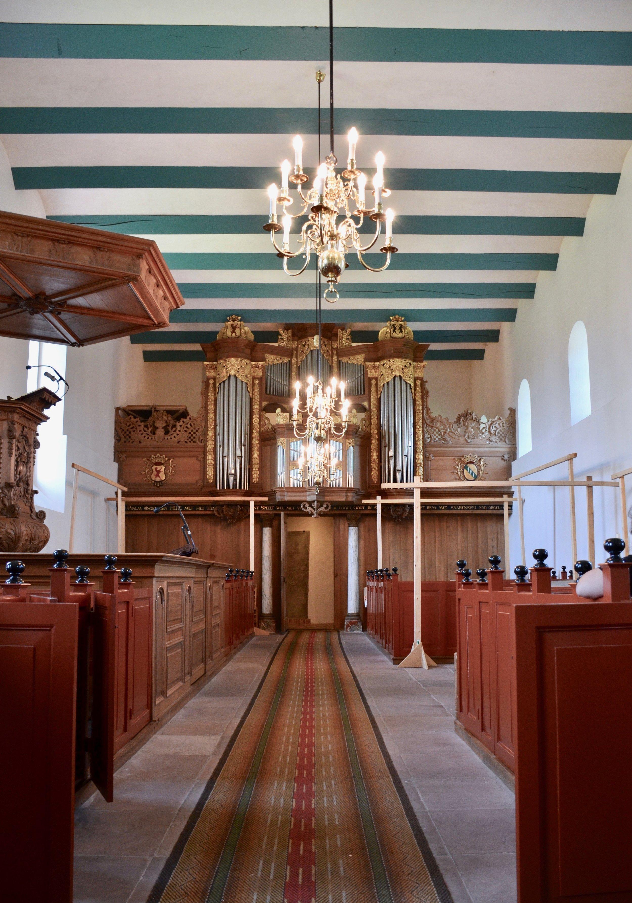 1667 organ in Kantens, Holland.