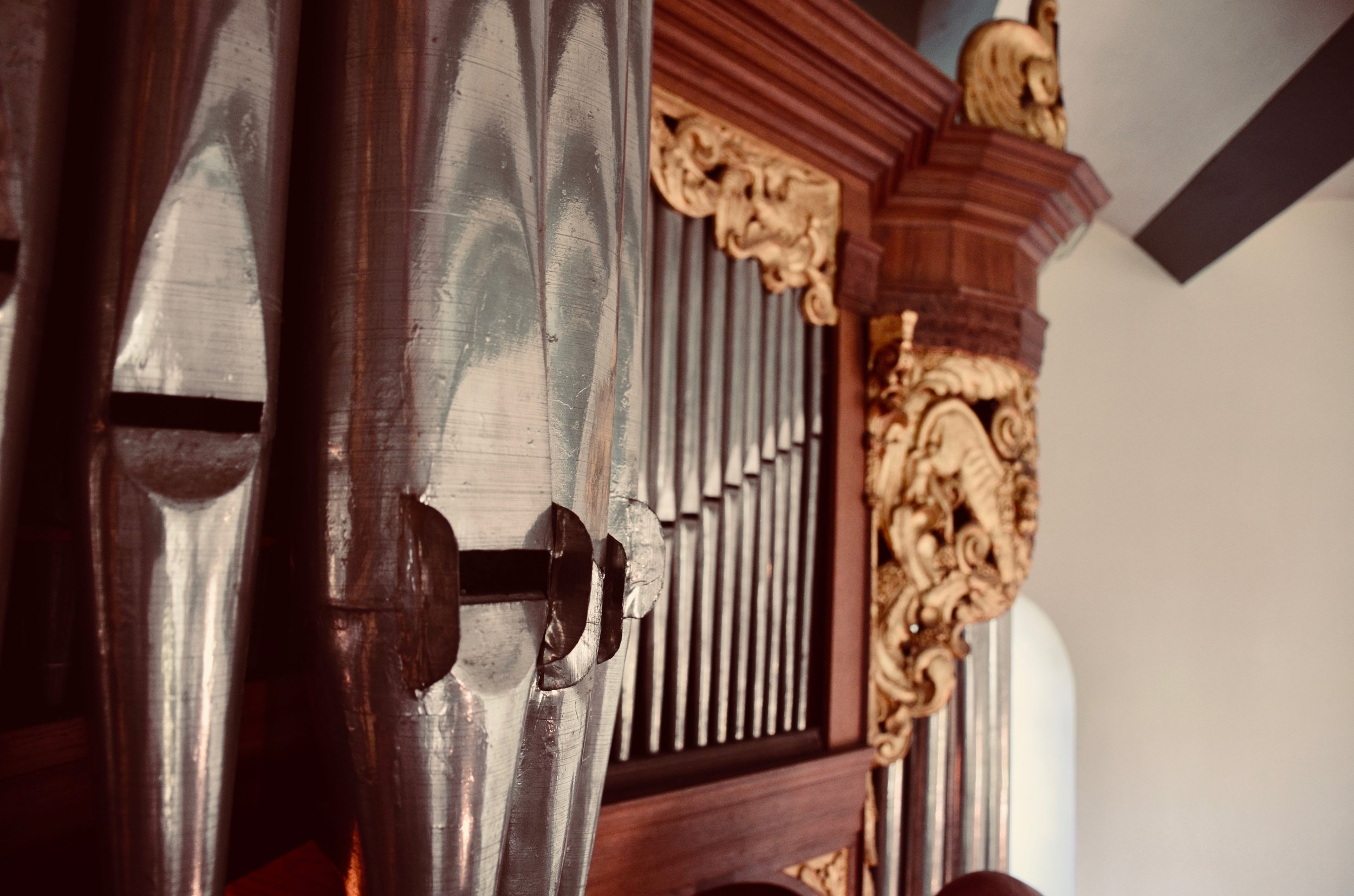 Pipework detail, 1667 Huis organ, Kantens, Holland.